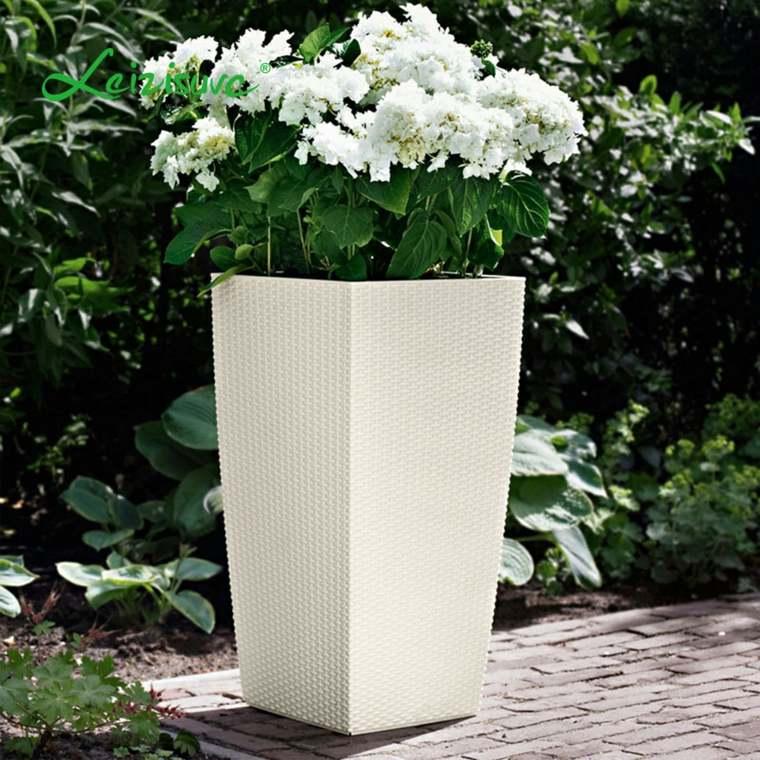 jardineras modernas-blanco-decorar-exterior