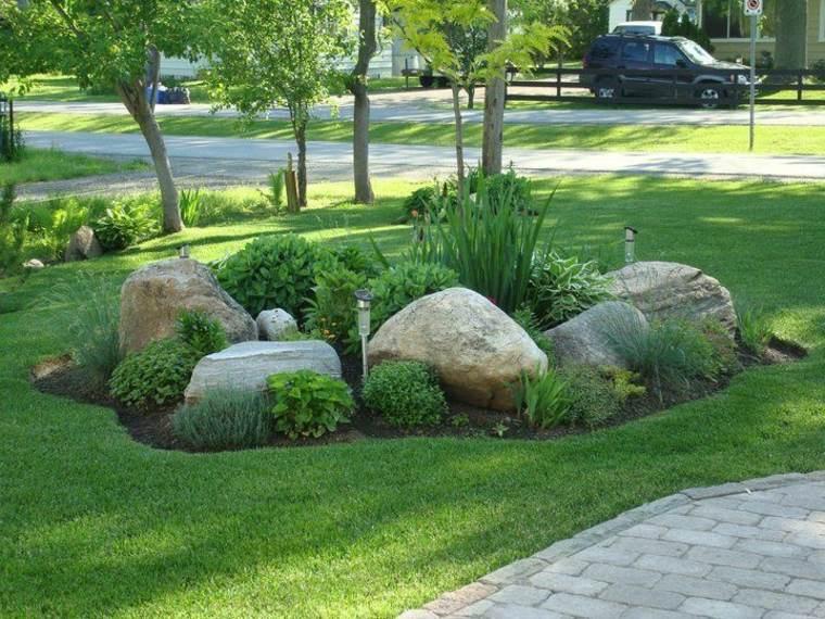 jardines con piedras diseño
