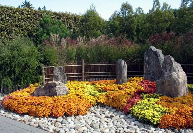 jardines con piedras estilos