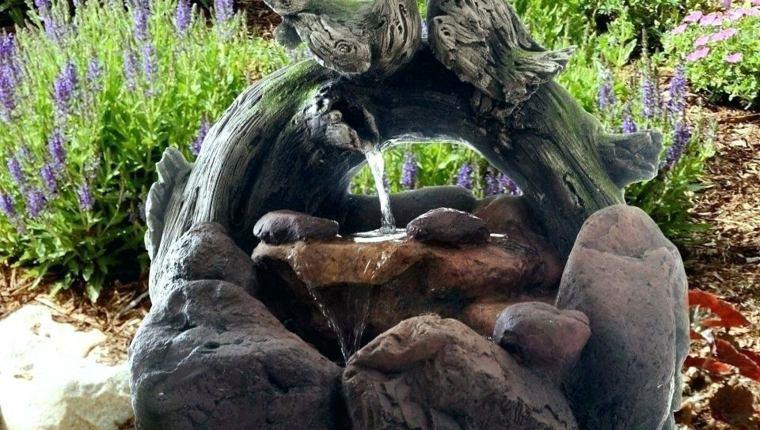 jardines con piedras fuente