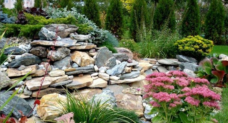 jardines con piedras idea
