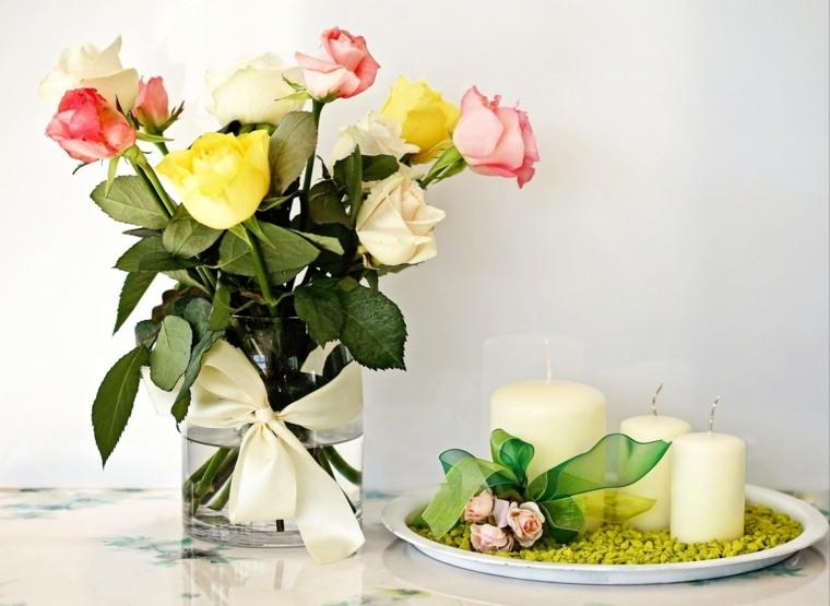 jardines pequenos-decorados-velas-flores