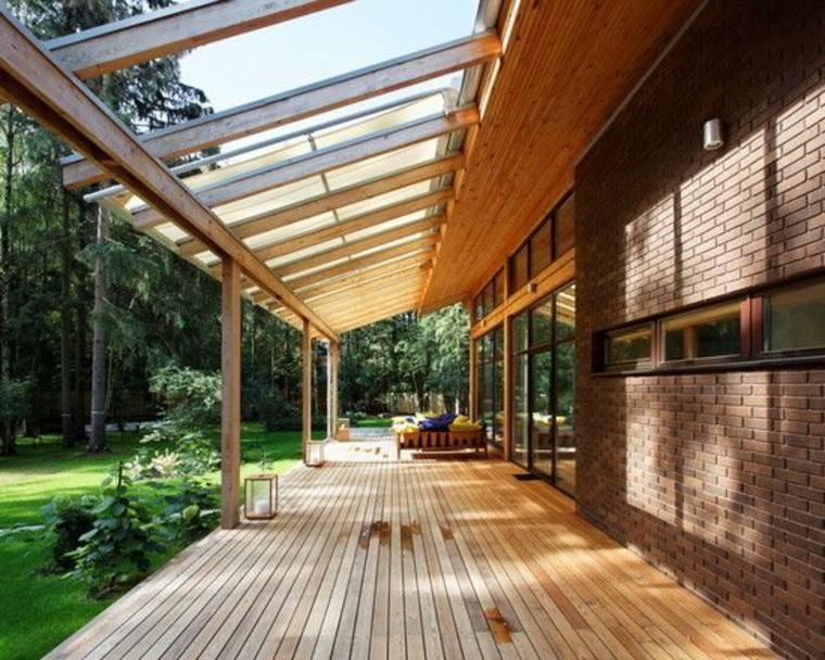 ideas de diseño y decoración de porches de madera
