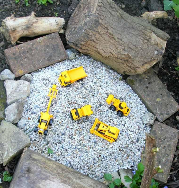juegos infantiles para jardín obras
