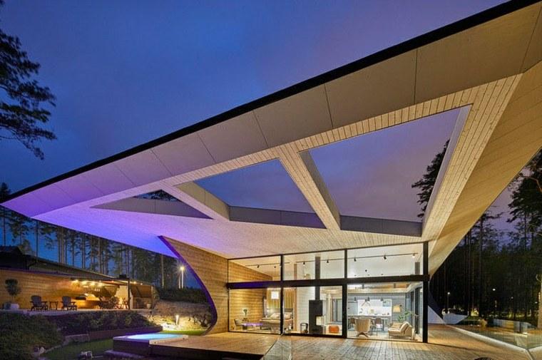 la arquitectura lineas rectas modernas