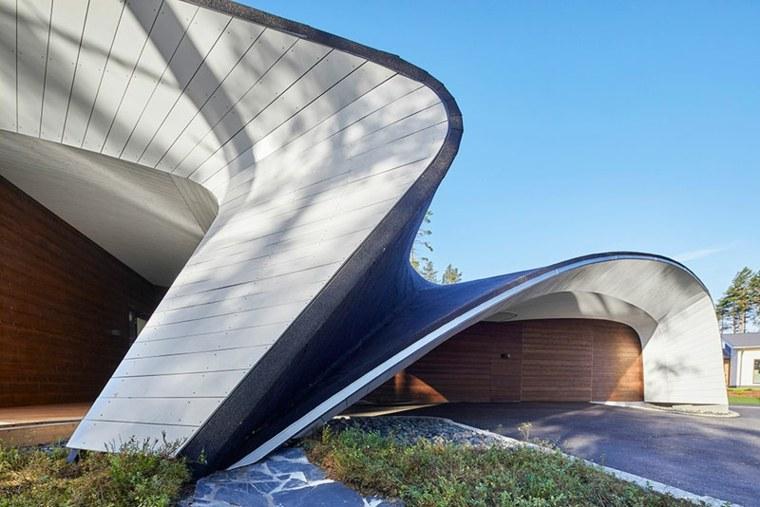 la arquitectura moderna formas curvadas
