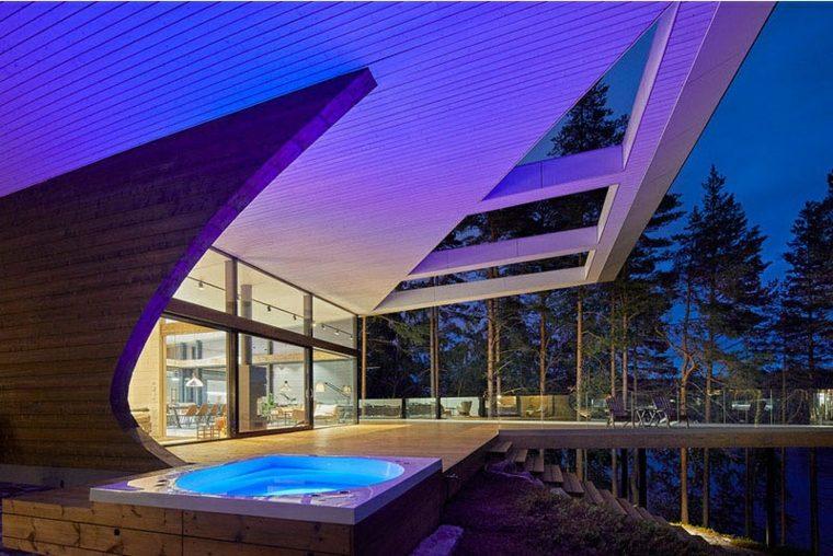 la arquitectura uso luces led