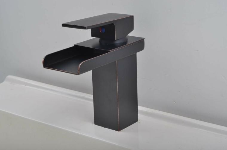 lavabos modernos-grifos-negros