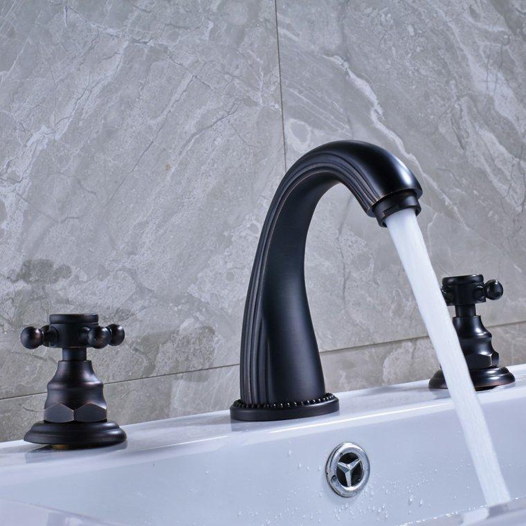 lavabos para bano-grifos-negros