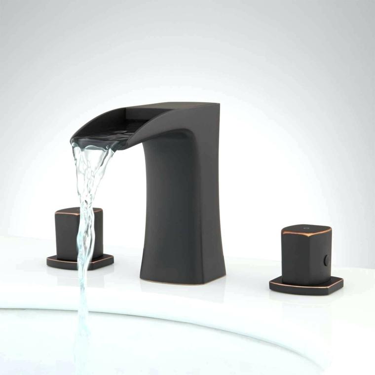 lavabos para bano-modernos-grifos-negros