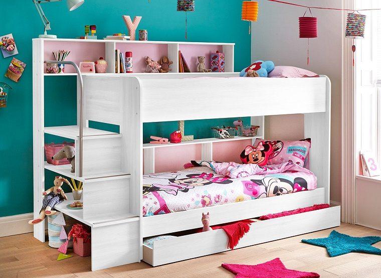 literas-para-ninos-color-blanco-escaleras-almacenamiento