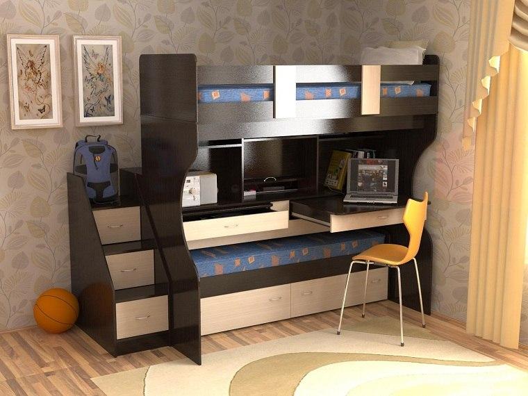 literas para niños muebles-escritorio