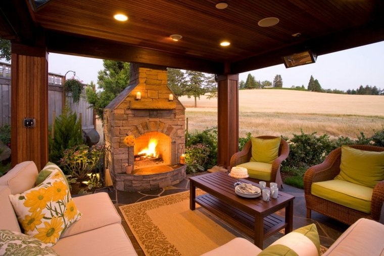 diseños de porches de madera modernos