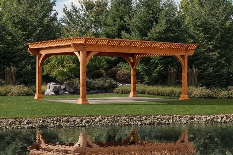 medidas de vigas de madera para pergolas-decorar