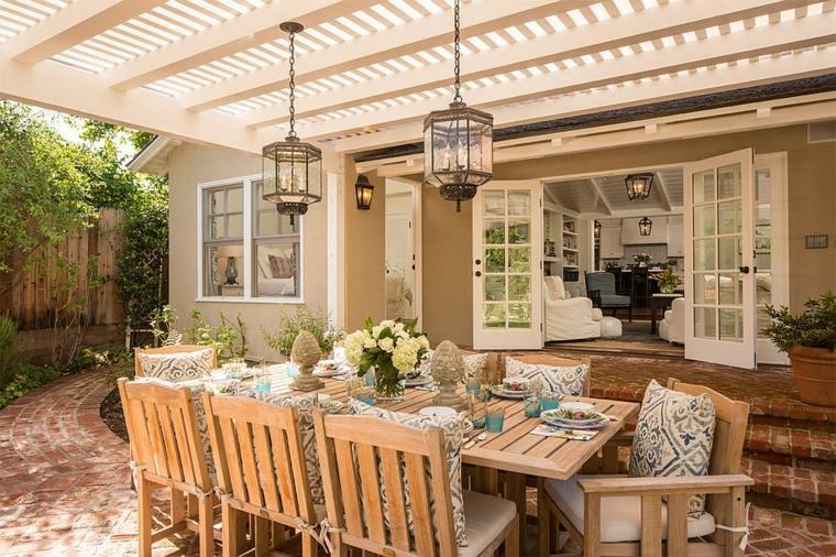 Comedores y cocinas al aire libre - ideas originales para su jardín -