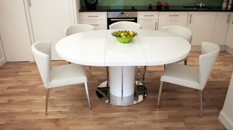 mesas de cocina-minimalistas-redondeadas