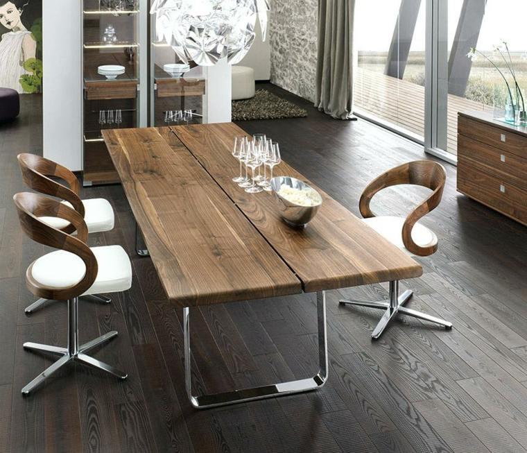 mesas de cocina-modernas-madera