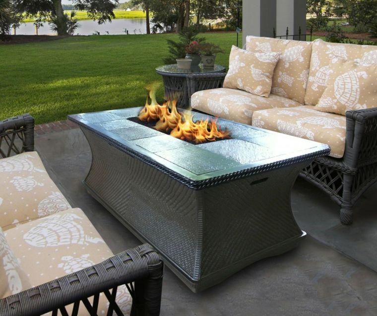 mesas de jardin-decoracion-fuego