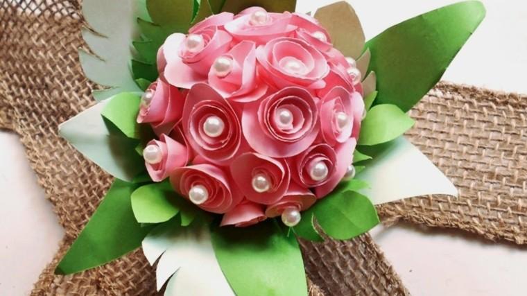 mesas de jardin-decoradas-flores-papel
