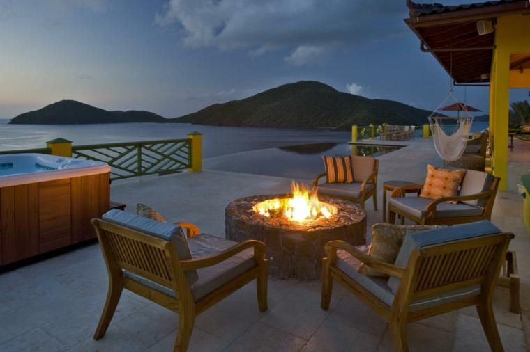 mesas de jardin-elegantes-decoradas-fuego