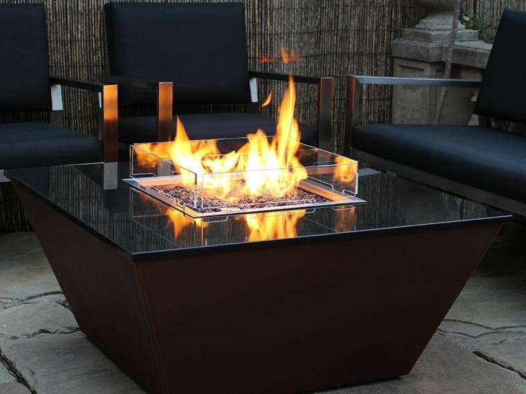 mesas de jardin-modernas-fuego