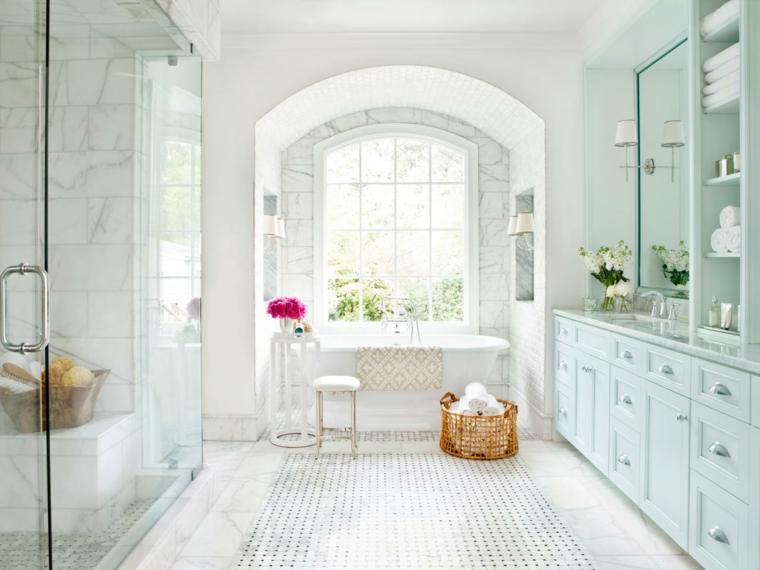 modelos de banos-marmol-blanco