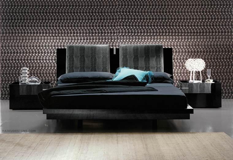 modelos de camas-cabeceros-negros
