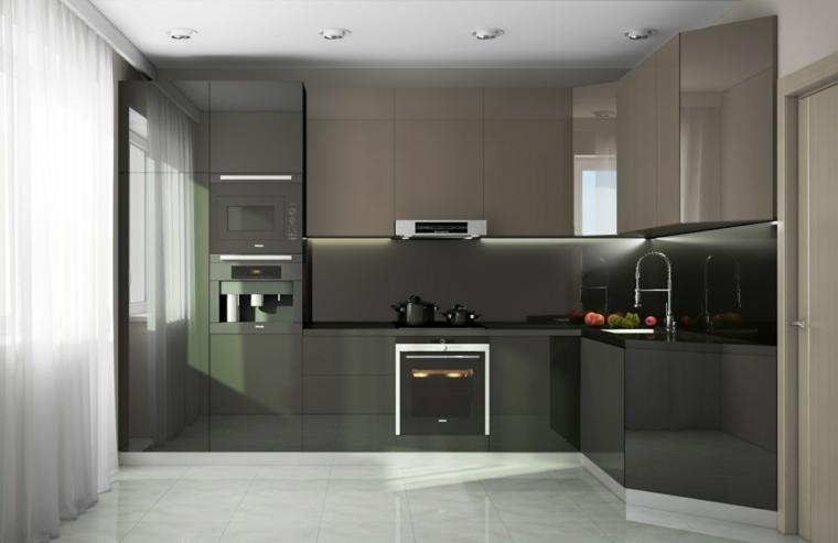 modelos de cocinas-minimalistas-marrones