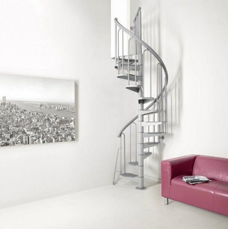 modelos de escaleras-caracol-interiores