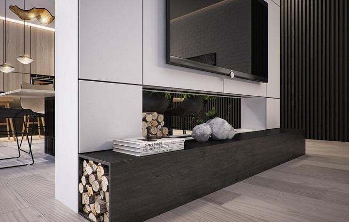 moderno estilo lenas casa