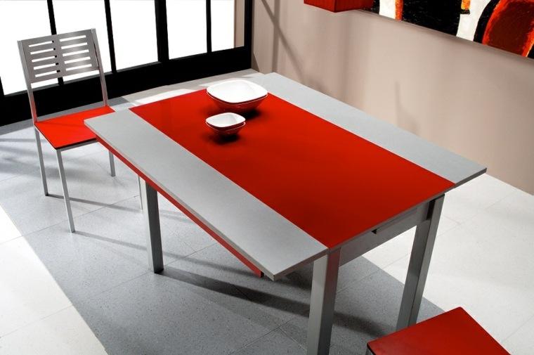 muebles cocina-modernos-color-rojo