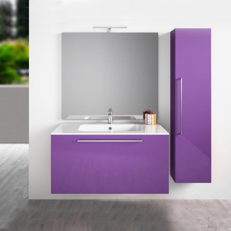 muebles de madera-decorar-banos-pequenos