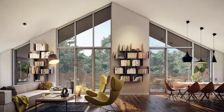 muebles de madera-decorar-salones-pequenos
