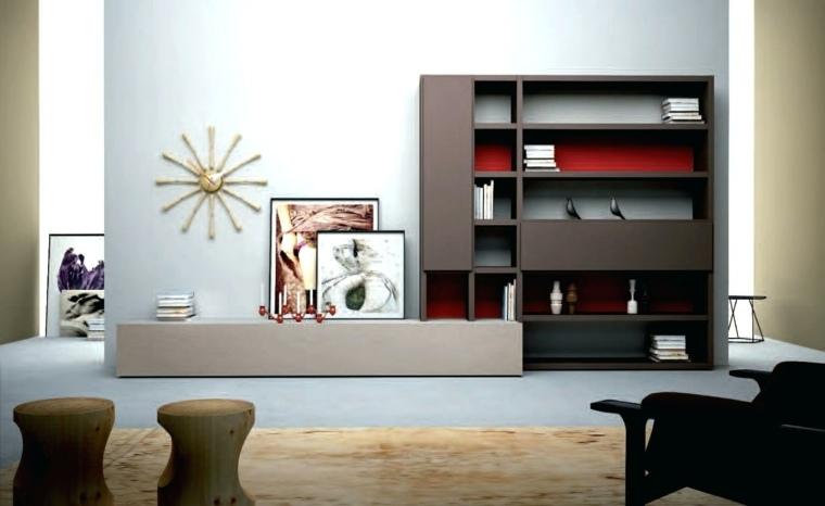 muebles de madera modernos-decorar-salones