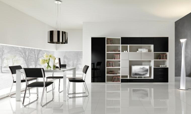 muebles de sala modernos-decorar-interior
