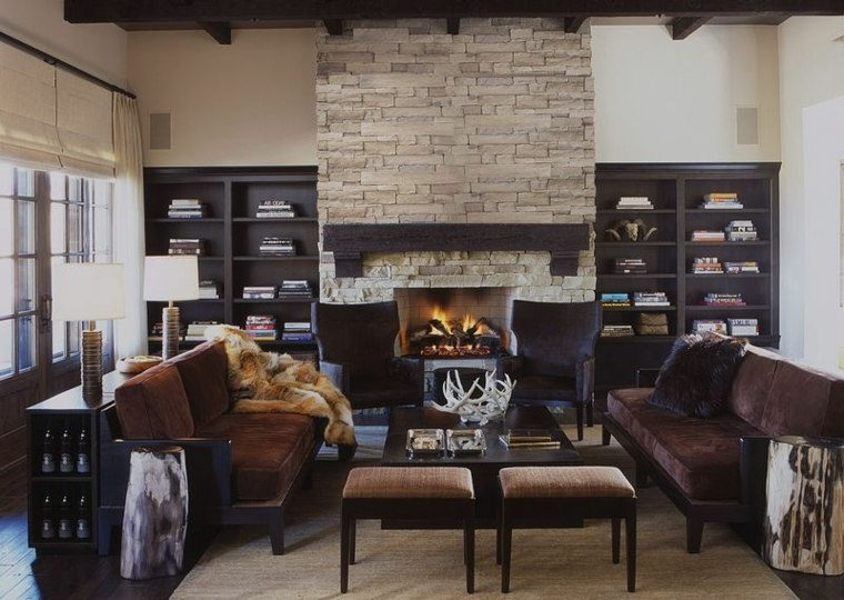 muebles-diseno-madera-negras-sala-rustica