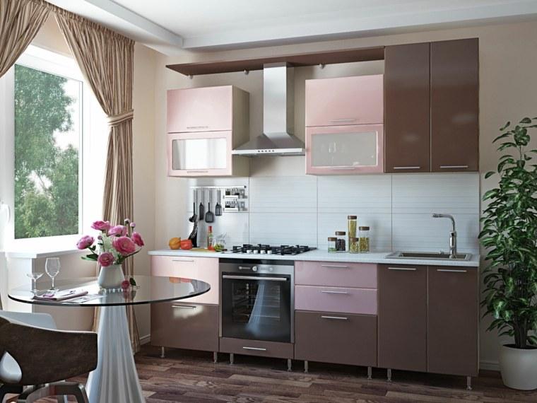 muebles modernos-decorar-cocinas-pequenas