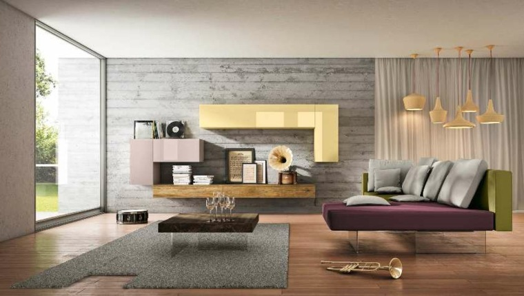muebles modernos-decorar-salones