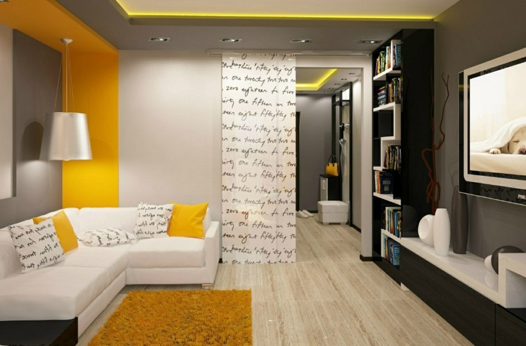 muebles modernos-salones-interiores-pequenos