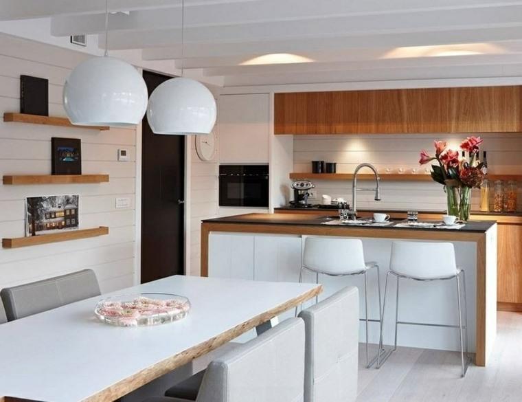 Cocinas modernas pequeas alargadas formas de decorar for Amueblar cocina alargada