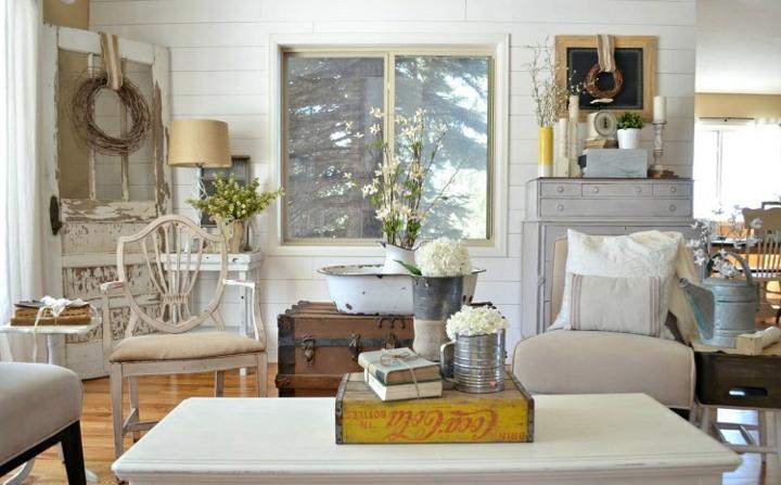 muebles vintage salones amplios