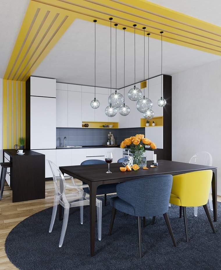 Dorable Azul Y Amarillo Temas De Cocina Embellecimiento - Ideas de ...