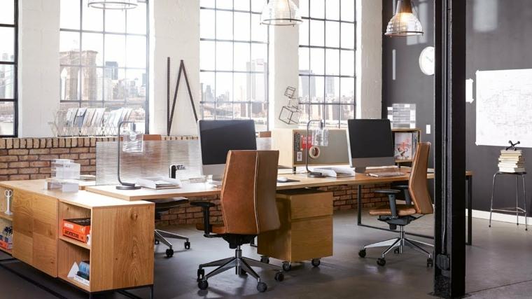 diseño de despacho estilo industrial