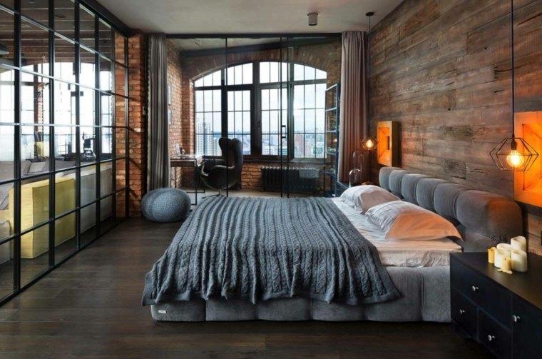diseño de dormitorio estilo industrial