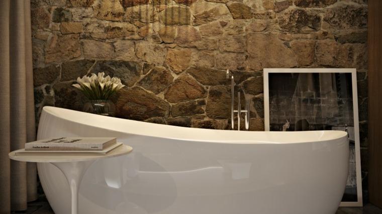 baños de piedra y madera
