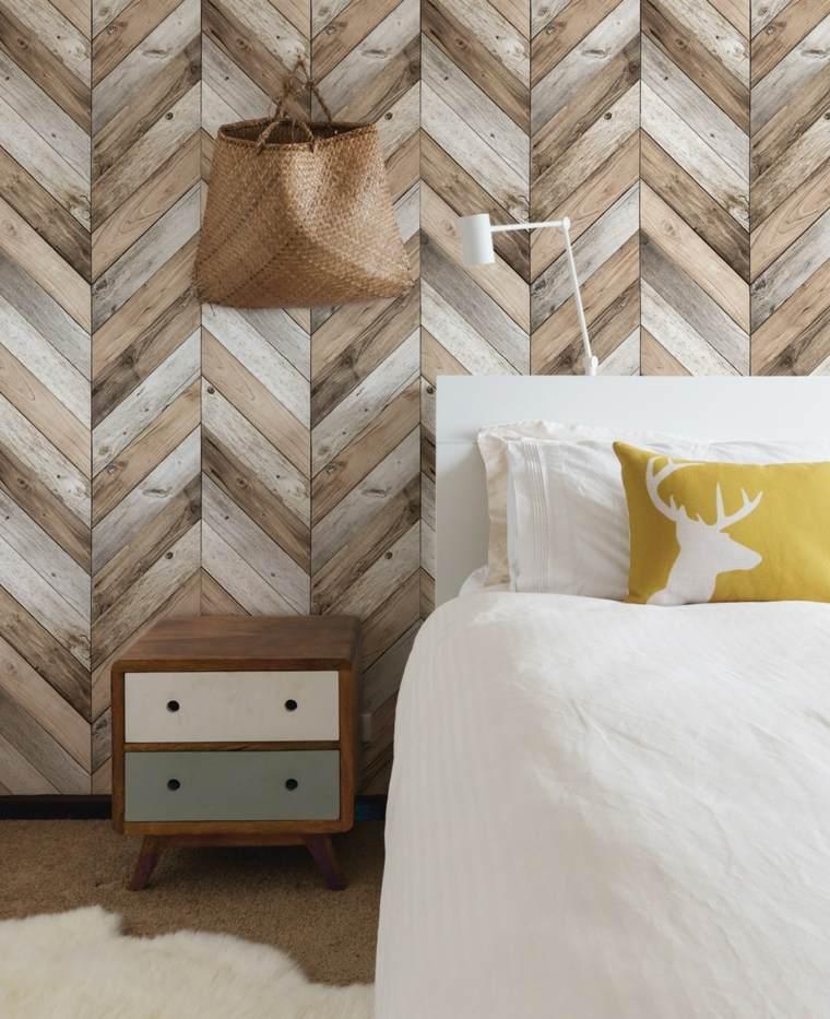 paredes decoradas-dormitorio-enlosado-madera