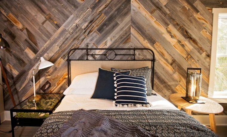 paredes decoradas-dormitorios-modernos-madera