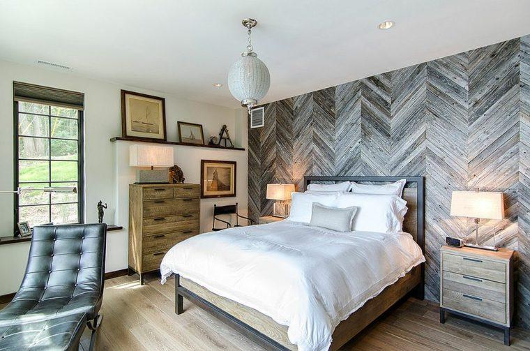 paredes decoradas-madera-dormitorios