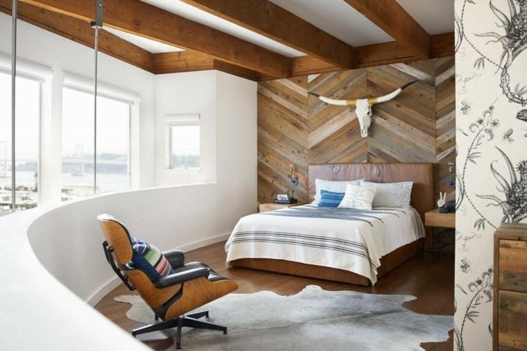 paredes decoradas-madera-enlosado-dormitorios