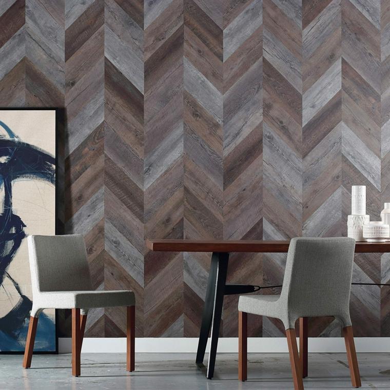 paredes decoradas-salones-enlosados-madera